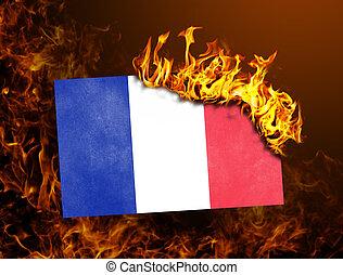 Flag burning - France