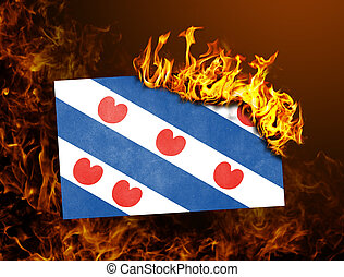 Flag burning - Friesland