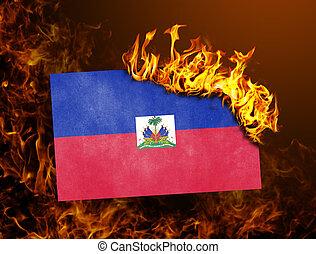Flag burning - Haiti