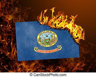 Flag burning - Idaho - Flag burning - concept of war or...