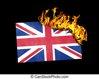 Flag burning - United Kingdom
