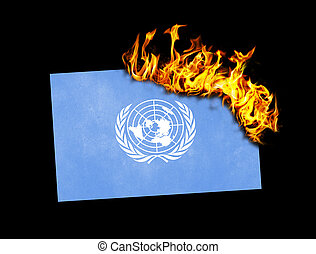 Flag burning - United Nations