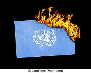 Flag burning - United Nations