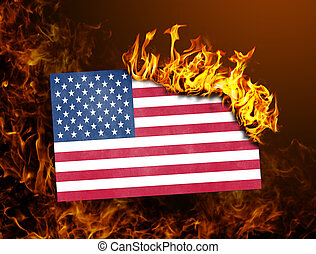 Flag burning - USA