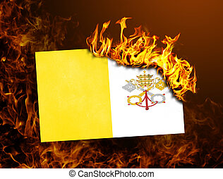 Flag burning - Vatican City