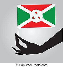 flag burundi, hans, hånd