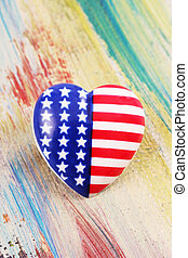 flag button - A button as a flag of United States of America...