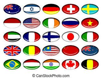 Country flag icons of Australia, Israel, Germany, Switzerland, Sweden, Russia, USA, Ireland, Vietnam, UAE, France, Finland, Japan, England, Malaysia, China, Newzealand, Brazil, India, hungary, Canada, Belgium
