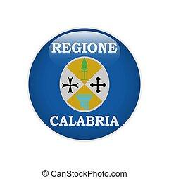 Flag Calabria button