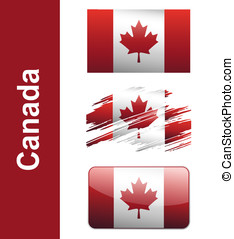 Flag Canada isolated on white background vector
