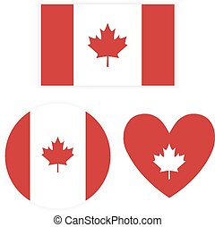 Flag Canada on white background