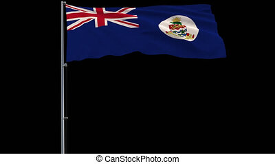 Flag Cayman Islands on transparent background, 4k prores...
