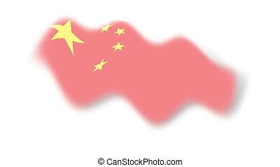 Flag - china - background - Animation on emblems - Flag -...