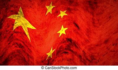 Flag - china - grunge
