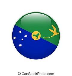 Flag Christmas Island button