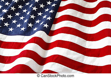 Flag - Closeup of ruffled American flag