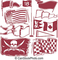 Flag Collection - a clip art collection of various flags