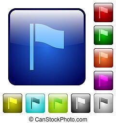 Flag color square buttons