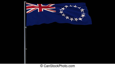 Flag Cook Islands on transparent background, 4k prores 4444...