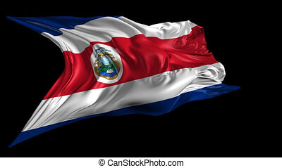 Flag Costa Rica - Beautiful 3d animation of Costa Rica flag...