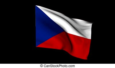 Flag czech republic - Flag of the republic czech animation...