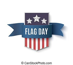 Flag Day background template.