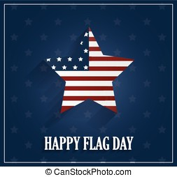 Flag Day blue background