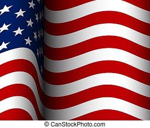flag., drapeau américain, fond