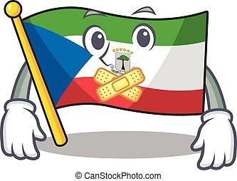 Flag equatorial guinea Scroll mascot cartoon character ...