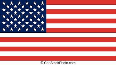 flag., estado, unidas, américa
