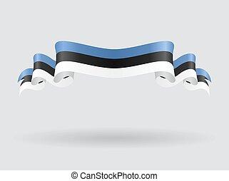 flag., falisty, wektor, estończyk, illustration.
