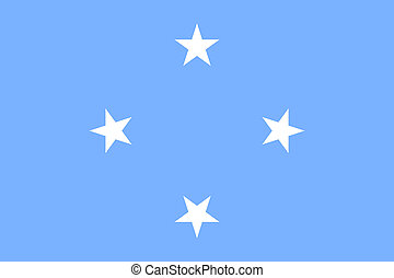 Flag Federated States Micronesia flat style