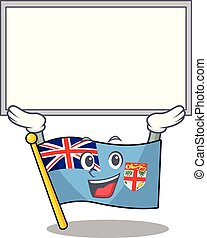 flag fiji isolated in the up board mascot