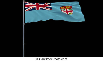 Flag Fiji on transparent background, 4k prores 4444 footage...