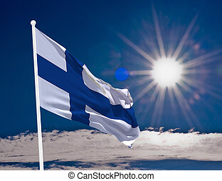 Flag Finland - High resolution image of the National flag of...