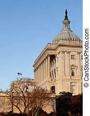 Flag flies in front of Capitol in DC