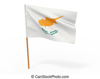 flag fluttering in the wind. Cyprus. 3d