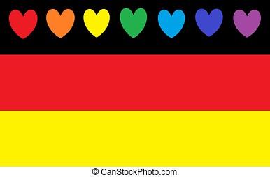 Flag symbol for ddr, east germany  Stylished flag of ddr