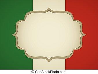 Flag Frame Italy