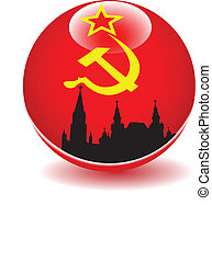 Flag globe  USSR