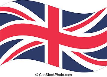 flag., grande, vettore, gran bretagna