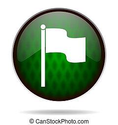 flag green internet icon