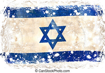 flag-, grunge, israël
