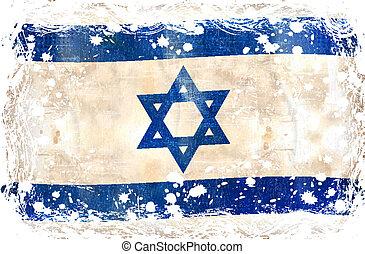 flag-, grunge, israel