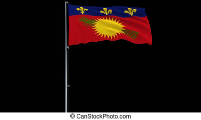Flag Guadeloupe on transparent background, 4k prores 4444...