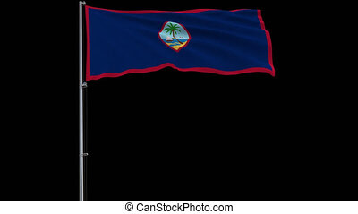 Flag Guam on transparent background, 4k prores 4444 footage...