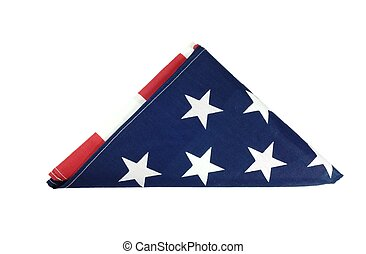 American Flag with ceremonial fold.