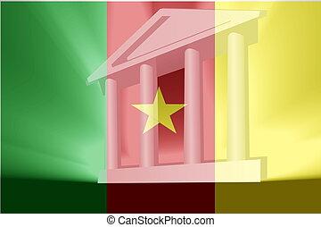 flag, i, cameroon, regering.