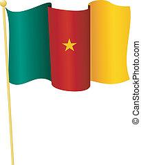 flag, i, cameroon., vektor