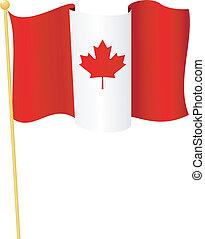 flag, i, canada., vektor